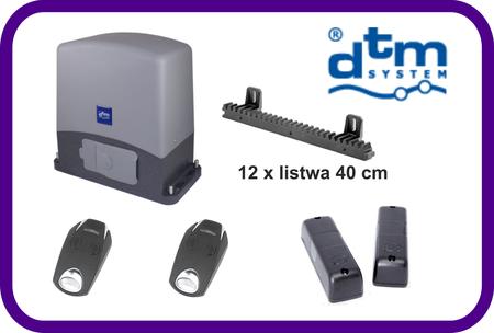 Zestaw  DTM SWIFT 6 do bram przesuwnych do 600 kg plus listwa 12 sztuk x 40 cm (1)