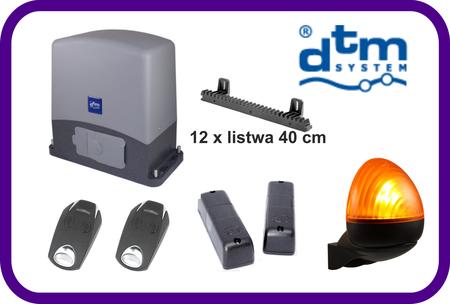 Zestaw  DTM SWIFT 6 do bram przesuwnych do 600 kg plus listwa 12 sztuk x 40 cm i lampą OLIMP (1)