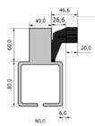 Listwa zębata poliamidowa zbrojona 40 cm do bram o wadze do 600 kg (2)